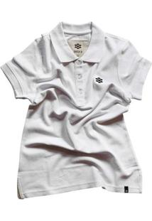 Camiseta Pólo Zebra Pine Casual Cone Pique Shirt Feminina - Feminino-Branco