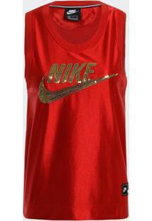 Camiseta Regata Nike Nsw Vermelha Feminina
