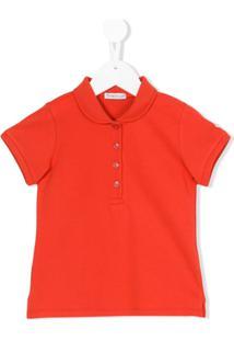 Moncler Kids Camisa Polo - Vermelho