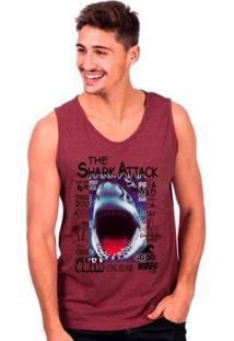 Regata Long Island Shark Masculina - Masculino-Bordô
