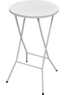Mesa Bistrã´ Açomix Dobrável Branco Açomix