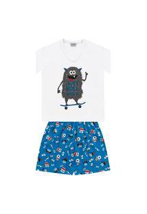Pijama Infantil Bebê Monstrinho Fakini