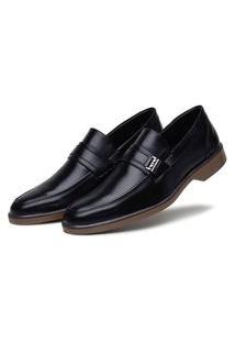Sapato Social Preto Conforto Solado Bicolor 45032