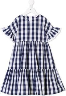 Il Gufo Vestido Xadrez - Azul