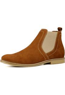 Bota Chelsea Masculina Mr Shoes Em Couro Ferrugem - Kanui