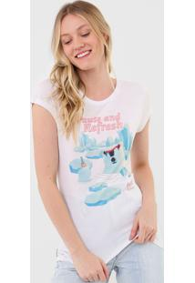 Camiseta Coca-Cola Jeans Refresh Branca - Branco - Feminino - Viscose - Dafiti