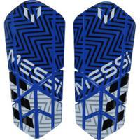 d29c48c413 Caneleira De Futebol Adidas Messi 10 Lesto - Adulto - Azul Branco