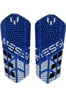 Caneleira De Futebol Adidas Messi 10 Lesto - Adulto - Azul/Branco