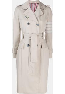 Thom Browne Trench Coat 4-Bar Clássico - Neutro