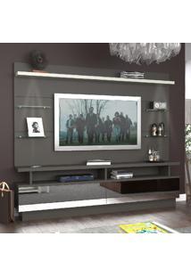 Rack 2 Gavetas Com Painel Para Tv Até 55'' 104510E Café/Branco - Foscarini