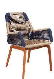 Cadeira Zig Trama Corda Náutica Base Cumaru Eco Friendly Design Scaburi