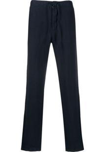 Z Zegna Drawstring-Waist Straight-Leg Trousers - Azul