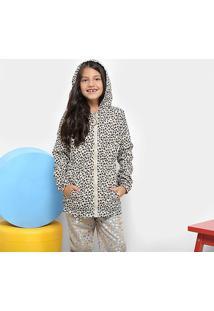Jaqueta Infantil Zeep! Quebra Vento Estampada Feminina - Feminino