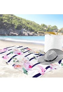 Toalha De Praia / Banho Floral Orquidea