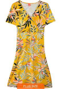 Vestido Estampada Floral Evasê