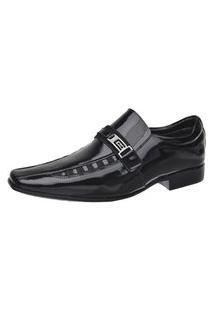 Sapato Verniz Brilhante Masculino Malbork Couro 8153A102 Preto