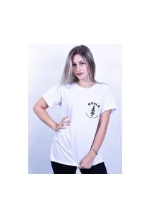 Camiseta Corte A Fio Bilhan Oxalá Branca