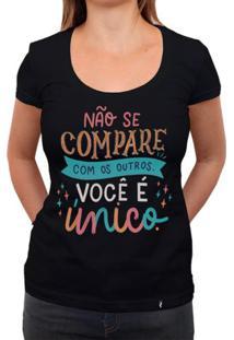 Não Se Compare Com Os Outros - Camiseta Clássica Feminina