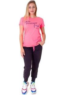 Camiseta Opera Rock T-Shirt Feminina - Feminino-Rosa