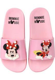 890c4682dd3457 Chinelo Slide Infantil Grendene Minnie Coral