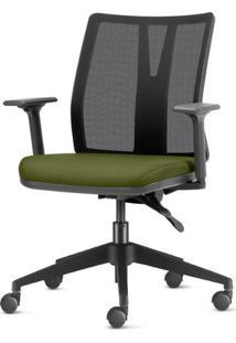 Cadeira Addit Assento Crepe Verde Salvia Com Base Piramidal Em Nylon - 54111 Sun House