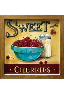 Quadro Caixa Cherries Natural 33X33 Cm Kapos