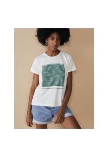 Amaro Feminino T-Shirt Paisley, Off-White