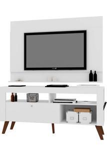 Home C/ Bancada E Painel Para Tv Até 55 Pol. Dinamarca Preto Artinmóveis - Tricae