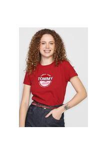 Camiseta Tommy Jeans Logo Vermelha