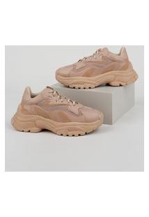 Tênis Feminino Oneself Sneaker Chunky Com Recortes Rosê