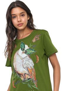 Camiseta Colcci Coruja Verde