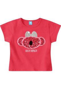 Blusa Bebê Lilica Ripilica Feminina - Feminino-Vermelho