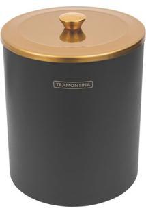 Lixeira ÚTil- Preta & Dourada- 5L- Tramontinatramontina