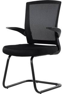 Cadeira Office Flex Fixa Com Encosto Em Tela - 30809 - Sun House