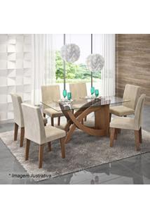 Conjunto De Mesa & Cadeiras Flávia Para 6 Lugares- Savancimol