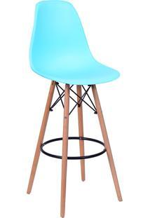 Banqueta Alta Mdp/Mdf 6602Pp-Or Design - Azul Claro