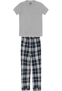 Pijama Infantil Menino Longo Cinza