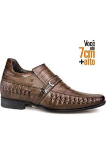 Sapato Social Couro Rafarillo Masculino Tresse Dia A Dia - Masculino-Amadeirado