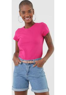 Camiseta Rovitex Lisa Rosa