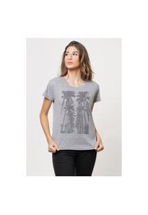 Camiseta Jay Jay Básica La Coconuts Cinza Mescla Dtg