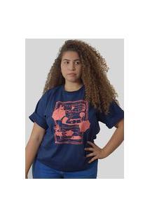 Camiseta Quimera Beira Mar Azul Marinho