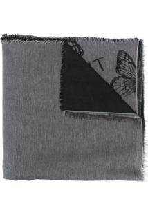 Twin-Set Cachecol Com Logo - Preto