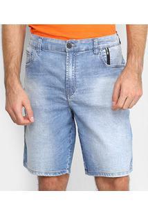 Bermuda Jeans Ellus 2Nd Floor Lake Elastic Adam Masculina - Masculino-Azul Claro