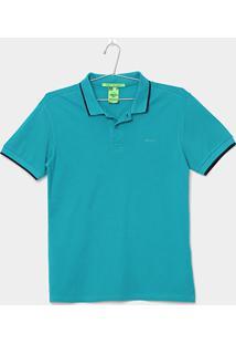 Camisa Polo Infantil Colcci Fun Piquet Masculina - Masculino-Verde Claro 3c2851920f7eb