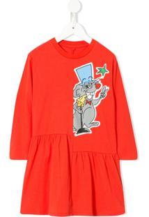 Stella Mccartney Kids Vestido Party Rat - Vermelho