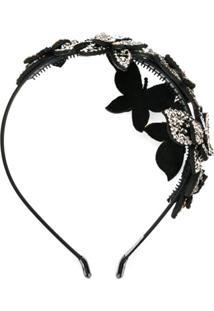 P.A.R.O.S.H. Headband Com Aplicação De Borboleta - Preto