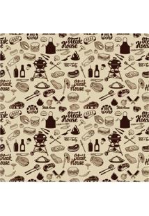 Papel De Parede Adesivo Steak House (2,50M X 0,58M)