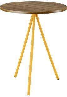 Mesa Lateral 509 Uf Ebano Amarelo Ouro C