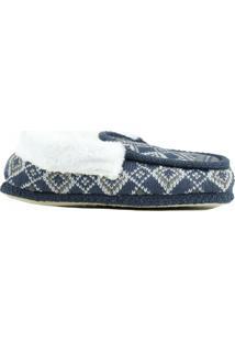 Pantufa Riscen Sapato Azul
