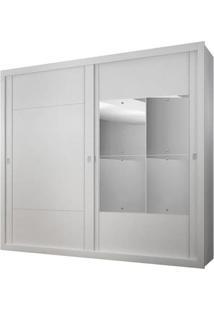 Guarda-Roupa Dalí Com Espelho - 2 Portas - 100% Mdf - Branco